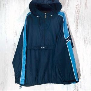 Nike blue hoodie windbreaker jacket